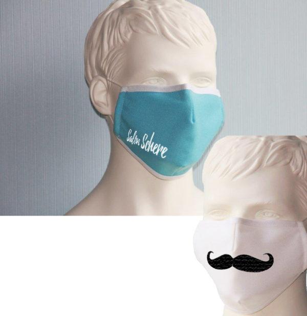 Maske mit Logo